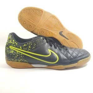 b51be409f1ea0 Nike Shoes - Nike Tiempo Rio II IC Black Volt Green Indoor